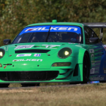 2013- ALMS- VIR- No17 Team Falken Tire Porsche testing at VIR09