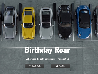 "Have You Played ""Birthday Roar""? Porsche's Newest Online Game"
