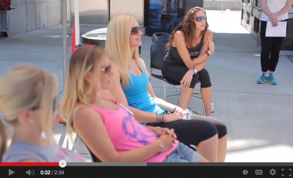 Oakley women athletes at Porsche sports driving school
