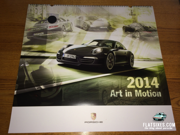 2014 Porsche Calendar Art in Motion