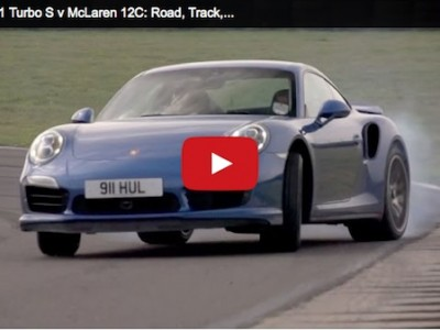 video of a Porsche 911 TurboS vs Mclaren 12c