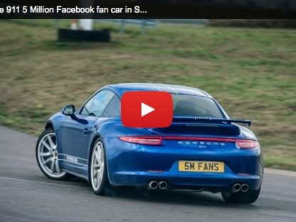 Dede Seward And The Porsche 911 5 Million Facebook Fan Car At Silverstone