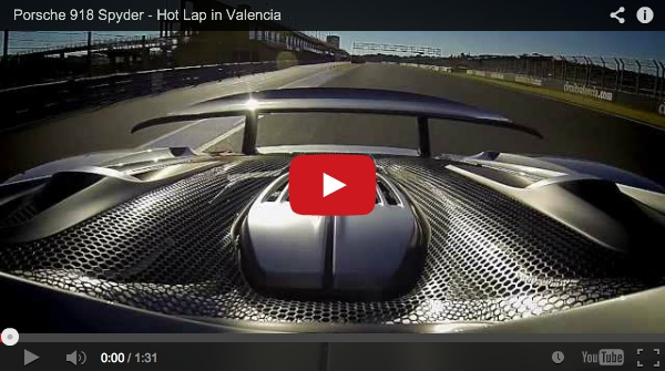 listen to the porsche 918 spyder running hot laps in valencia flatsixes. Black Bedroom Furniture Sets. Home Design Ideas