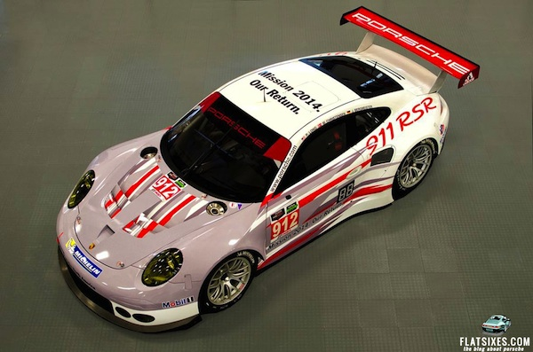 Porsche's new livery design for the 911 RSR.