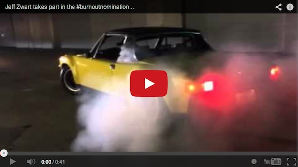 jeff zwart doing a burnout in his Porsche 914-6 for #burnoutnomination