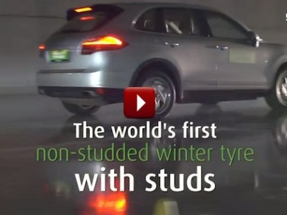 This Porsche Cayenne Has Nokian Winter Tires With A Retractable Stud System