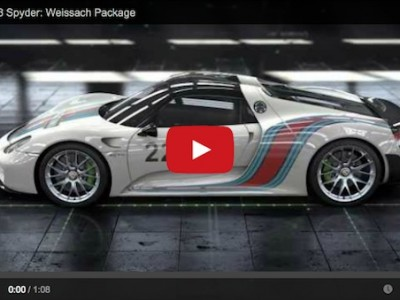 porsche 918 spyder with weissach package video