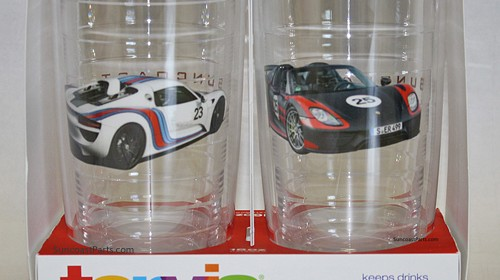 Win This Set of 16oz Tervis Tumblers Featuring Porsche 918 Spyder Prototypes