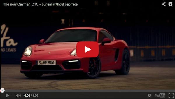 2015 Porsche Cayman GTS video