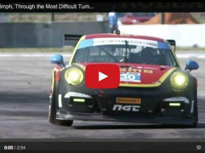 460 HP At 165 MPH Through The Most Difficult Turn In Racing