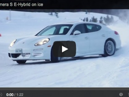 Why Would You Drift A Porsche Panamera S E-hybrid On Ice?