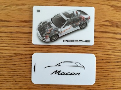 Porsche Macan and Porsche Panamera Room Key