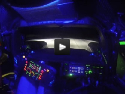 At Night, The Cockpit Of The Porsche 919 Hybrid Looks Like A Spaceship