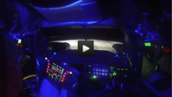 Posche 919 Hybrid cockpit at night