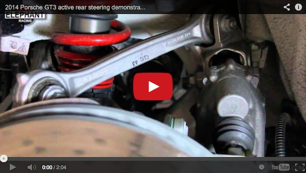 video explaining Porsche's rear wheel steering