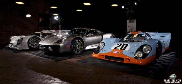 Porsche 917, 918 and 919 together