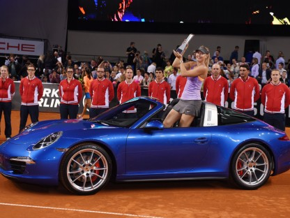 Maria Sharapova Wins Third Porsche Tennis Grand Prix