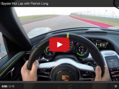 Take A Hot Lap In The Porsche 918 Spyder With Patrick Long