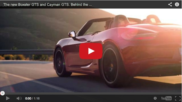 cayman gts video