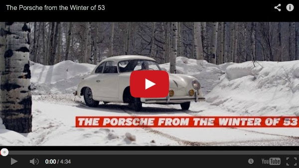 jeff zwart driving porsche 356 in snow video