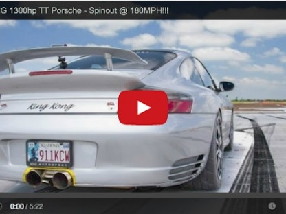 Watch What Happens When A 1300 HP Porsche Blows A Tire At 180 MPH