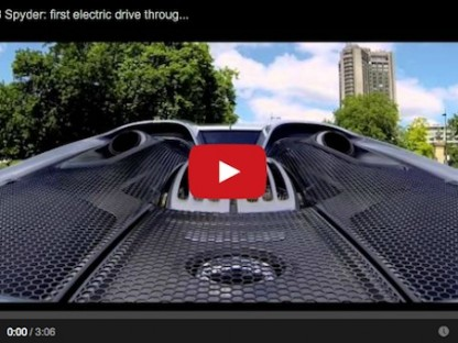 Did You Hear That? Neither Did Anyone Else. Porsche 918 Drives On Electric Power Through London