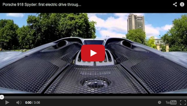 porsche 918 driving on electric