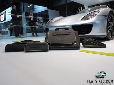 cost of the 5 piece porsche 918 spyder luggage set
