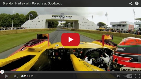 Brendon Hartley video 2014 goodwood festival of speed