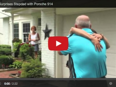 daughter suprises step dad with porsche for fathers day