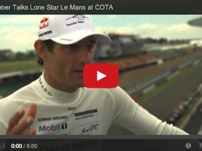 mark webber talks porsche and preparing for the WEC race during the Lone Star Le Mans at COTA