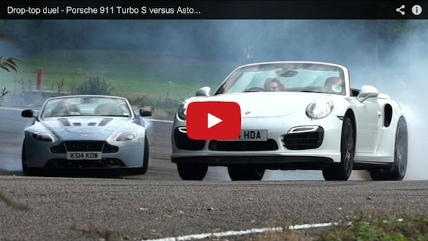 Porsche 911 Turbo vs Aston Martin Vantage S Video