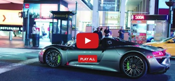 drive porsche 918 spyder manhattan electric video