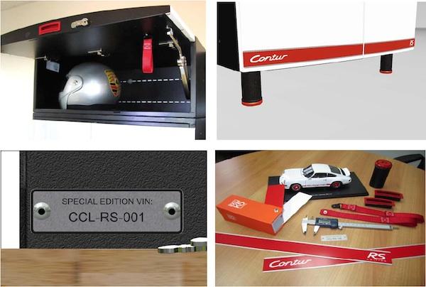 contur porsche rs edition garage cabinet details