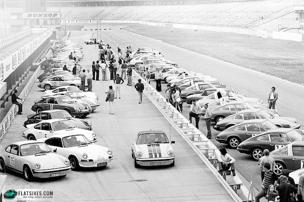 Porsche sports driving school 40 years ago