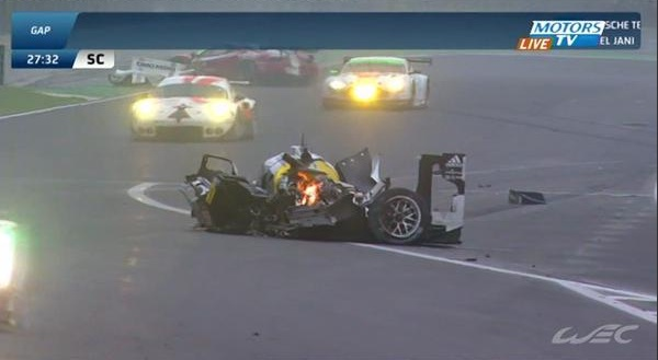 What's left of Mark Webber's LMP1 Porsche After Crash At Sao Paulo