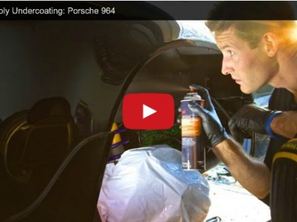 learn how to apply undercoating to your Porsche's wheel wells in this video