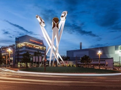 porsche sculpture germany
