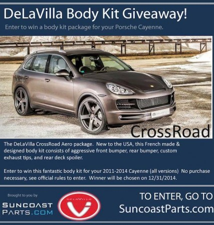 Win a DeLaVilla CrossRoad Body Kit for your Porsche Cayenne
