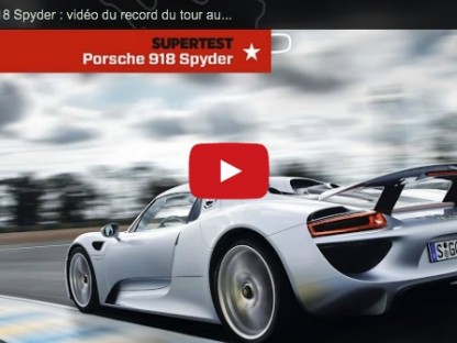porsche 918 spyder fastest production car bugatti circuit lemans