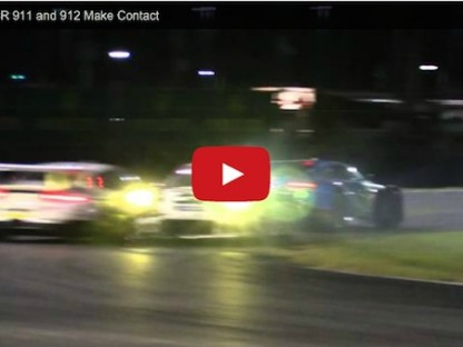 Watch As Porsche's Two Factory 911 RSRs Crash Into Each Other At Daytona