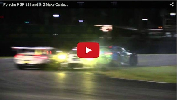 porsche 911s crash into each other daytona