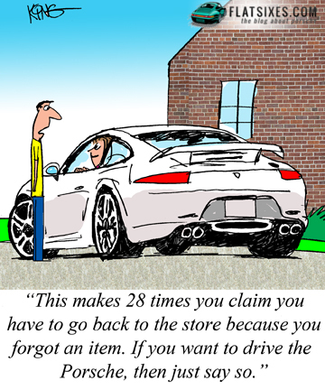 Porsche Cartoon or comic strip