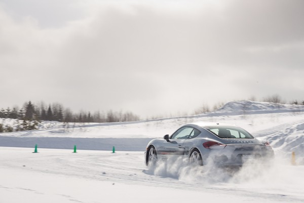 lapping Porsche caymans at Camp4 Canada