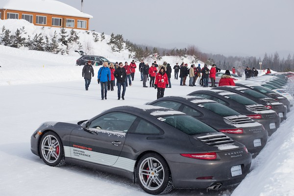 attendees splitting into groups at Porsches Camp4 Canada
