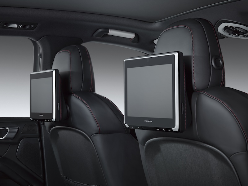 Porsche Introduces Rear Seat Entertainment Option For