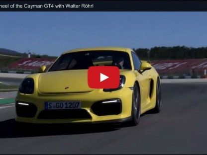 Walter Röhrl Takes Us On Track In The Cayman GT4