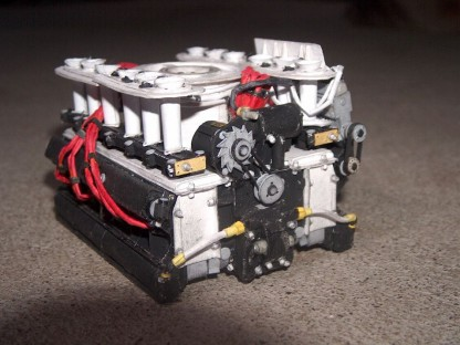 Paper Porsch 917 engine