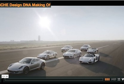 "Video Takes Us Behind The Scenes At The Filming Of ""The Porsche Design DNA"""