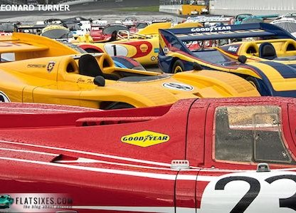 2007Rennsport Reunion racecars in rain small